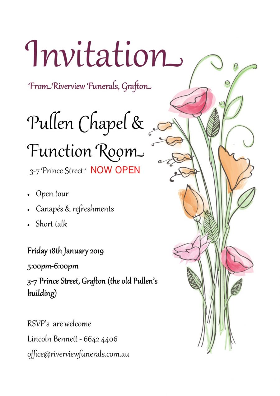 Pullen Chapel opening afternoon 18/01/19 @ 5pm